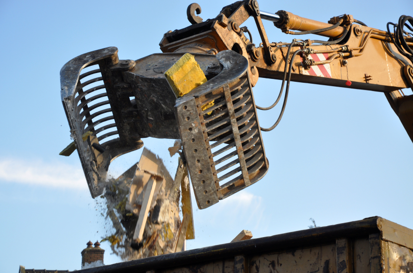 Demolition work in Cardiff Bay